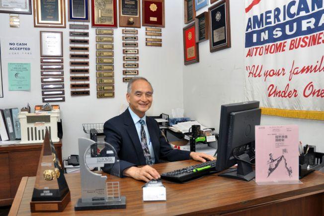 美國家庭保險公司代理人黎斌雄,幫助您全面了解各種不同類型保險的功能及 費用。(攝影簡麗琦)