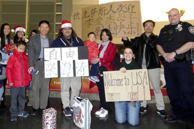 新疆維權人士張海濤妻子李愛杰日前在外界多方協助下,成功帶著2歲兒子抵達德州。(對華援助協會網站ChinaAid.net)