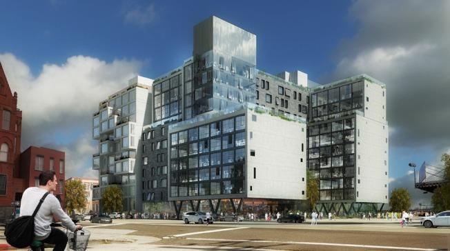 長島市傑克森大道(Jackson Ave.)22-12號的建築模擬圖。(取自網路)