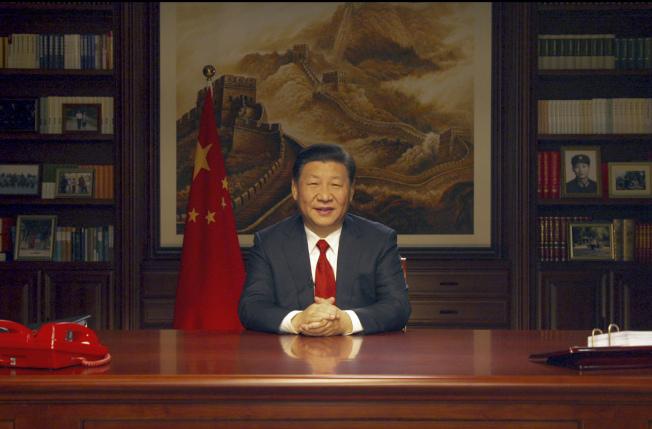 中國國家主席習近平發表2018年新年賀詞。(新華社)