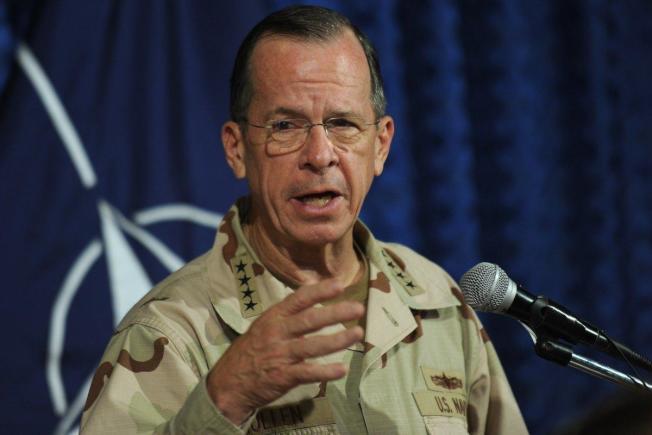 前美軍三軍參謀聯席會議主席穆倫31日在電視表示朝鮮半島戰情一觸即發。(Getty Images)