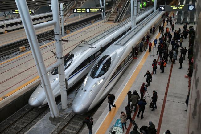 中國高鐵令灣區旅遊業者看到商機。(Getty Images)