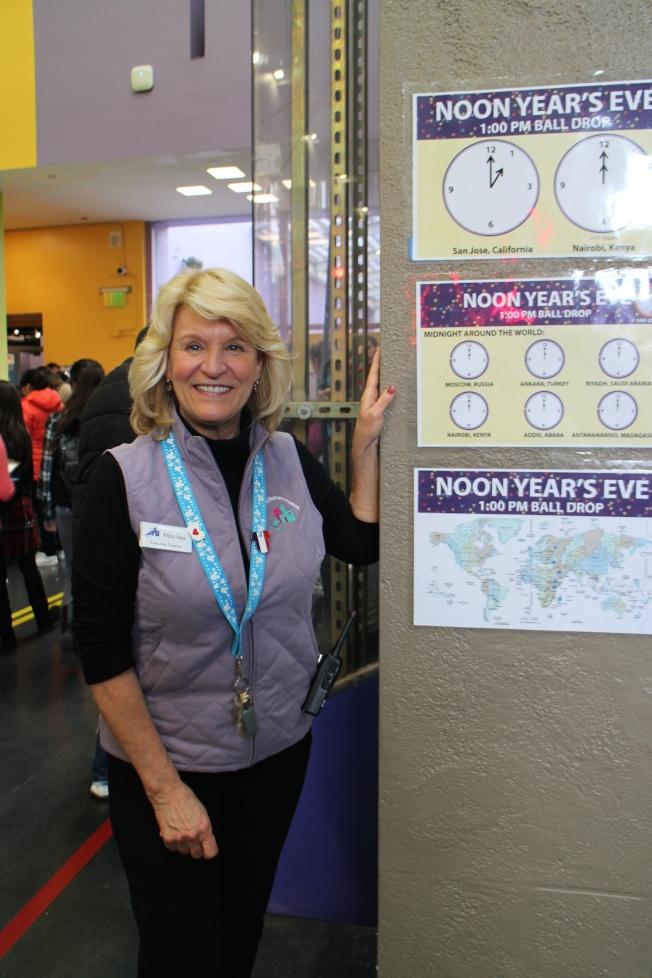 聖荷西兒童探索博物館執行長甄寧斯(Marilee Jennings)表示,博物館當天歡慶三個不同時區的新年。(記者張毓思/攝影)