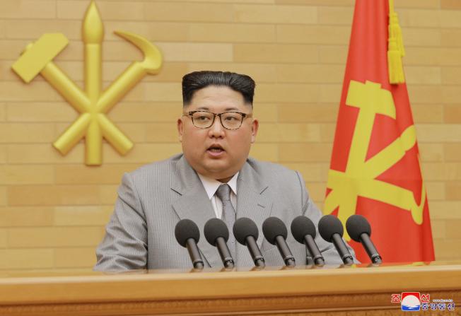 北韓領導人金正恩1日發表新年演說。美聯社