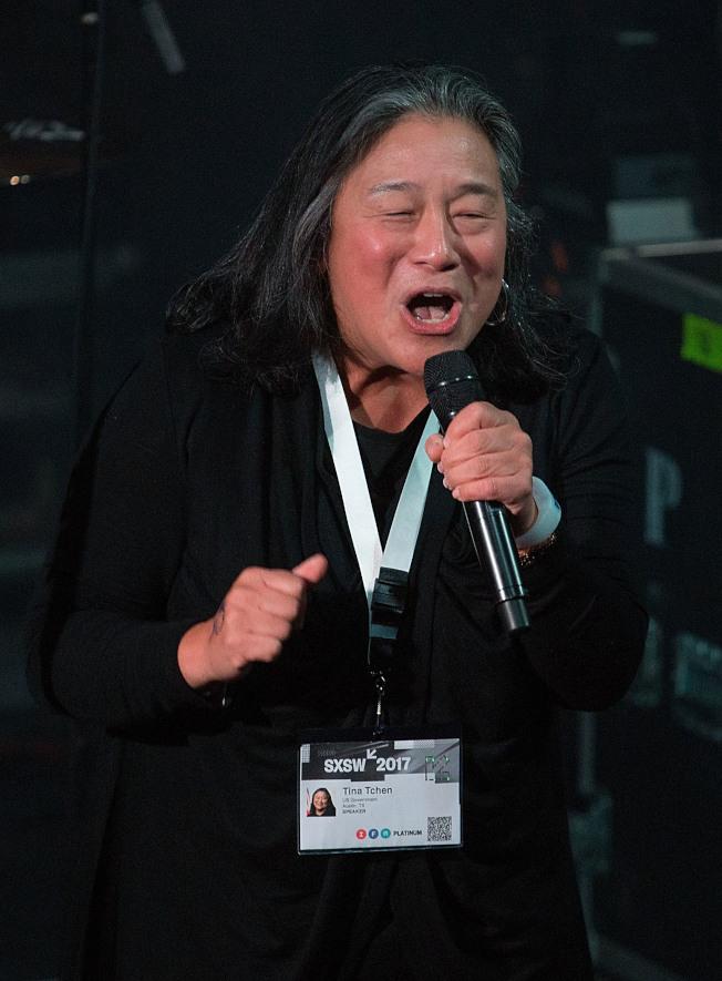 前第一夫人米雪兒‧歐巴馬的華裔幕僚長陳遠美,先前出席活動發表演說。(Getty Images)