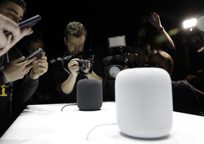HomePod被猜測可能會在2018年春季發行。(美聯社)