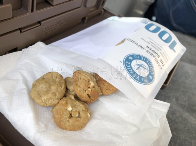 大麻餅乾也很受歡迎。(記者李榮/攝影)