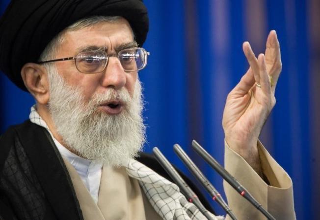哈米尼指責敵人煽動國內騷亂。路透