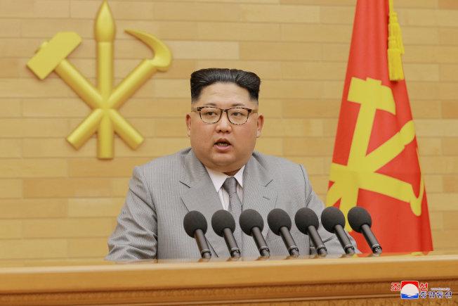 北韓領導人金正恩繼元旦發言後,再向南韓遞橄欖枝,願意恢復兩韓溝通管道。(路透)