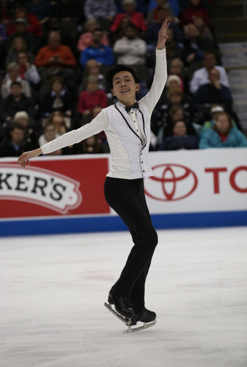 周知方將參加美國花式滑冰錦標賽,爭取奧運資格。(圖:美國花式滑冰錦標賽提供)