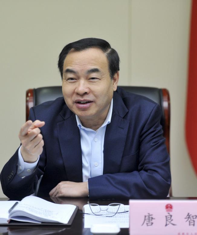 重慶市4屆人大常委會第44次會議決定,任命唐良智為重慶市人民政府副市長、代理市長。(中新社)