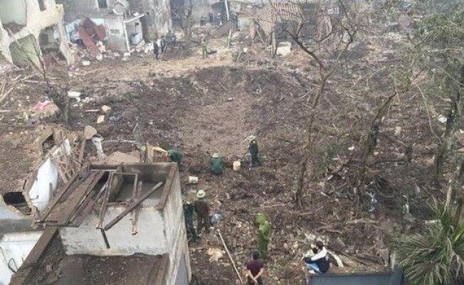 越南首都河內東方的北寧省今天清晨發生爆炸,造成一名嬰兒和一名5歲女童死亡,若干房屋被毀,至少6人受傷。圖擷自新浪網(01/03)