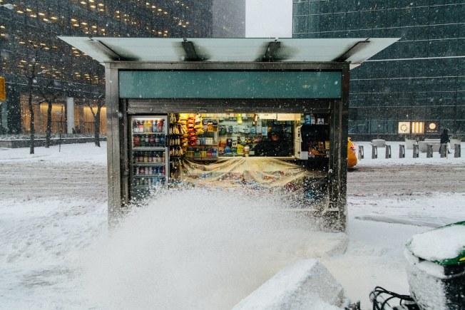 紐約市區街頭的商店。(歐新社)