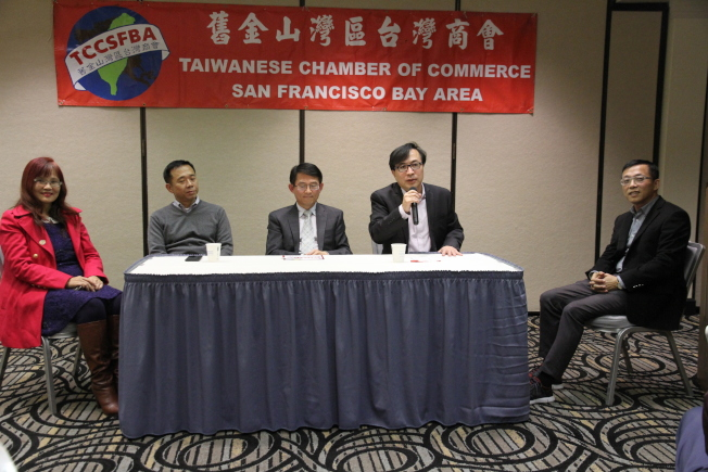 舊金山灣區台灣商會舉辦論壇,探討台灣與矽谷新創產業的投資發展與未來。(記者李榮/攝影)