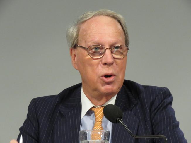 美國在台協會(AIT)前主席薄瑞光9日在華府智庫論壇後受訪表示,陸啟用M503是無益且不受歡迎的政治舉動。華盛頓記者張加/攝影