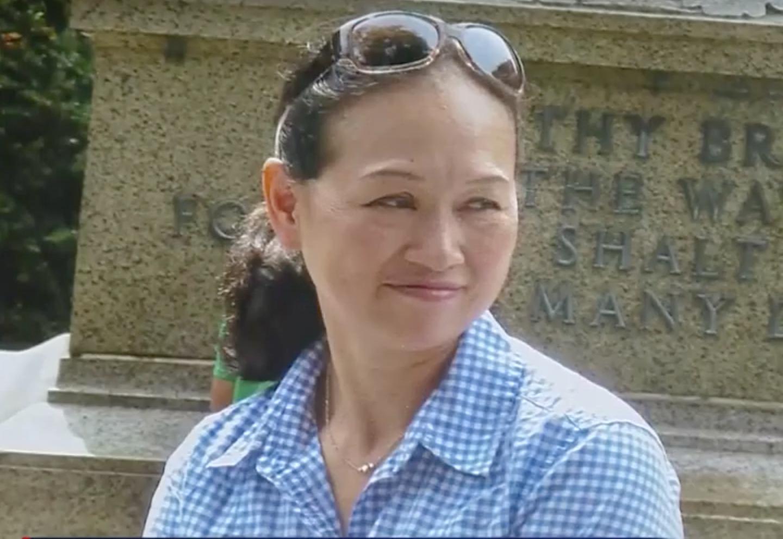 麻州華裔母親陳珍妮感染流感引發嚴重肺炎去世。(截圖自WCVB視頻)