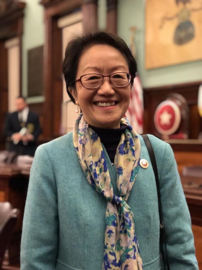 陳倩雯連任老人委員會主席。(記者洪群超/攝影)