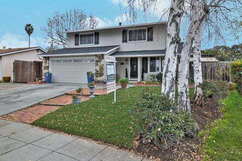 聖荷西Woodhust街這棟房子,目前正掛牌出售,四臥房,1723平方呎,要價92萬5000元,不到100萬。(圖:房地產公司提供)