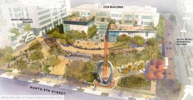 日本城公寓與創意藝術中心設計概念圖。(Shea Properties提供)