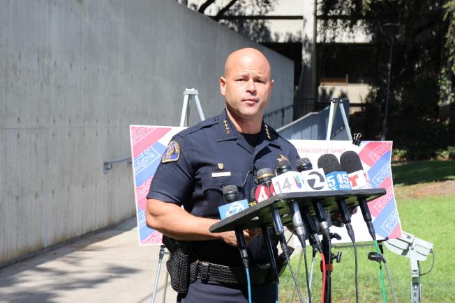 聖荷西警方公布用武資料,聖荷西警長賈西亞表示,希望以透明化博取民眾信任。(本報檔案照)