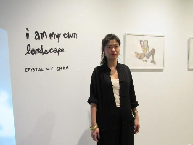 來自澳門的陳慧雯思考女性胴體的意義,以「我是我自己的風景」為主題進行創作。(記者顏嘉瑩/攝影)