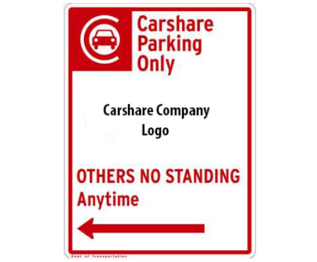 汽車共享有專屬停車指示牌。(取自DOT網站)