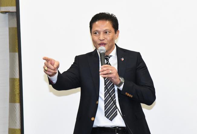 Danny Nguyen將帶領競選團隊打新媒體戰。(記者謝慕舜/攝影)