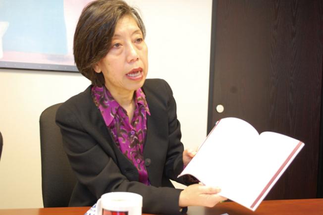李艷虹反對要求受訪者在人口普查表格上填寫移民身分。(本報檔案照片,記者李秀蘭攝影)