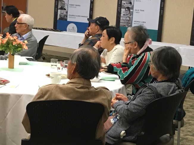托倫斯紀念醫學中心與南灣松柏社舉辦新春保健講座,邀請華裔醫師蔡泰瑞講述「常用草藥」的益處與壞處。(記者謝雨珊/攝影)