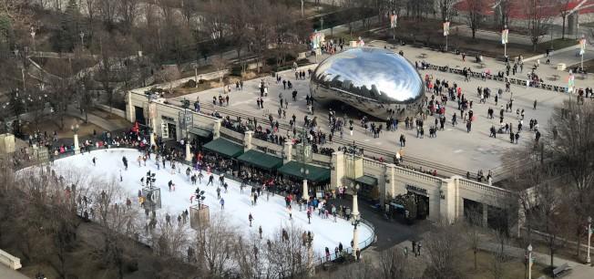 芝加哥2017年旅客數量創新高,其中千禧公園為芝城最具吸引力的觀光地標。(特派員黃惠玲/攝影)