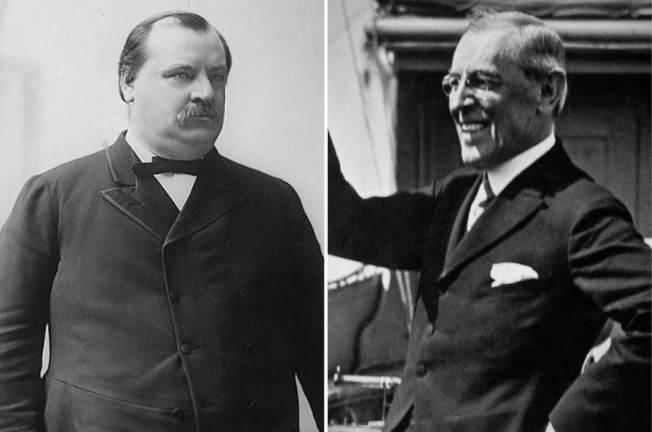 美國前總統克里夫蘭(左圖)及威爾遜(右圖)。 美聯社