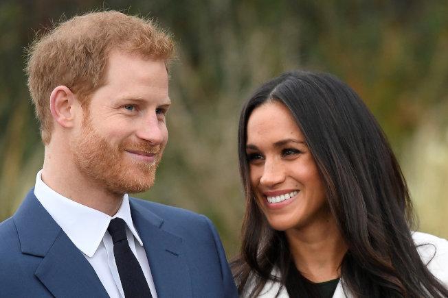英國哈利王子和未婚妻梅根馬克爾。(路透)