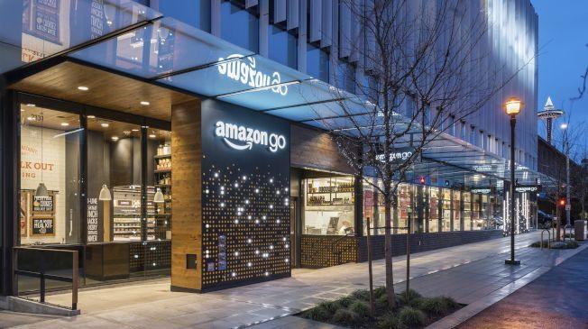 Amazon Go位於亞馬遜新總部大樓一樓。(圖/美聯社)
