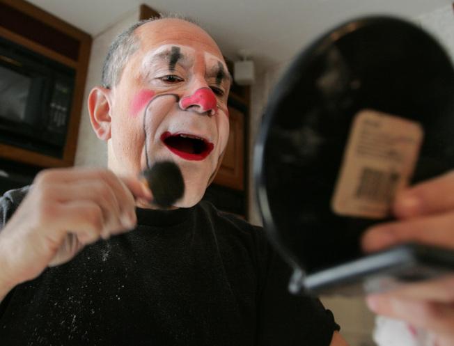 65歲馬戲團小丑魯賓。美聯社