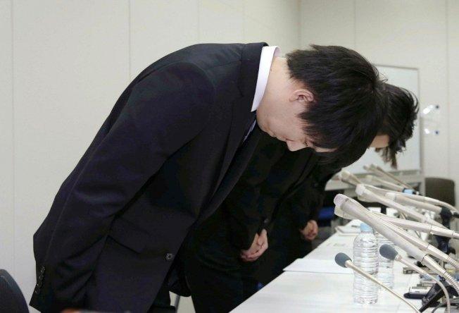 日本加密貨幣交易所Coincheck遭「駭」,價值580億日幣的虛擬貨幣「NEM」不翼而飛,公司總裁出面道歉。美聯社