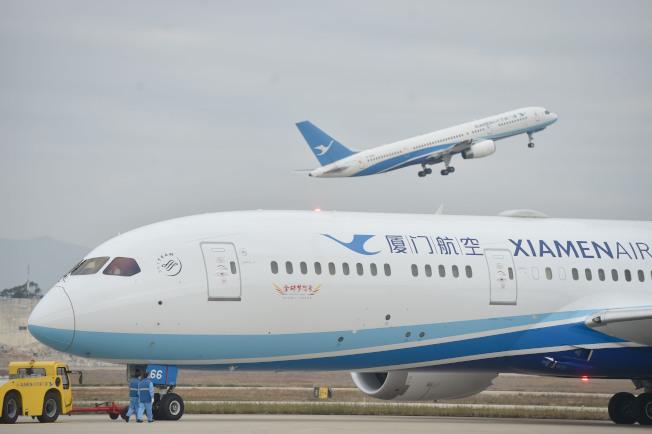 廈航班機。(新華社資料照片)