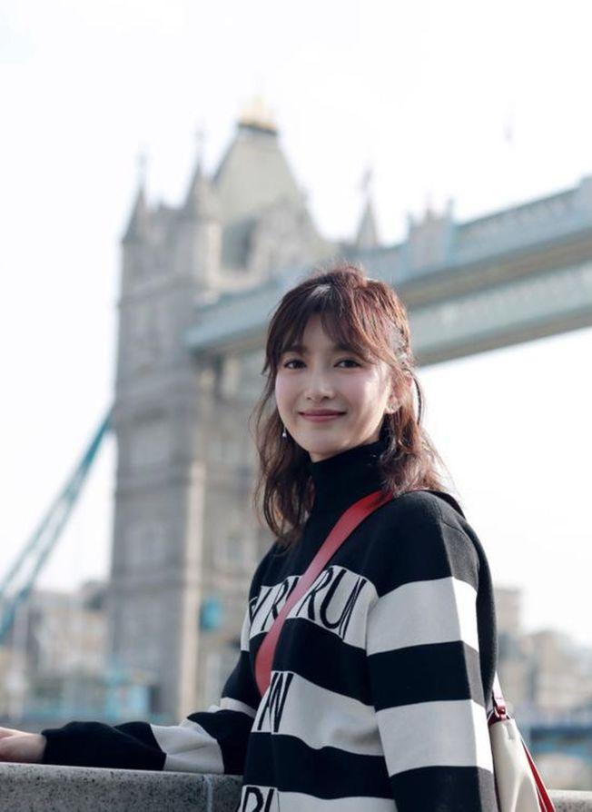 女星江疏影曾經留學英國。 (取材自重慶晨報)