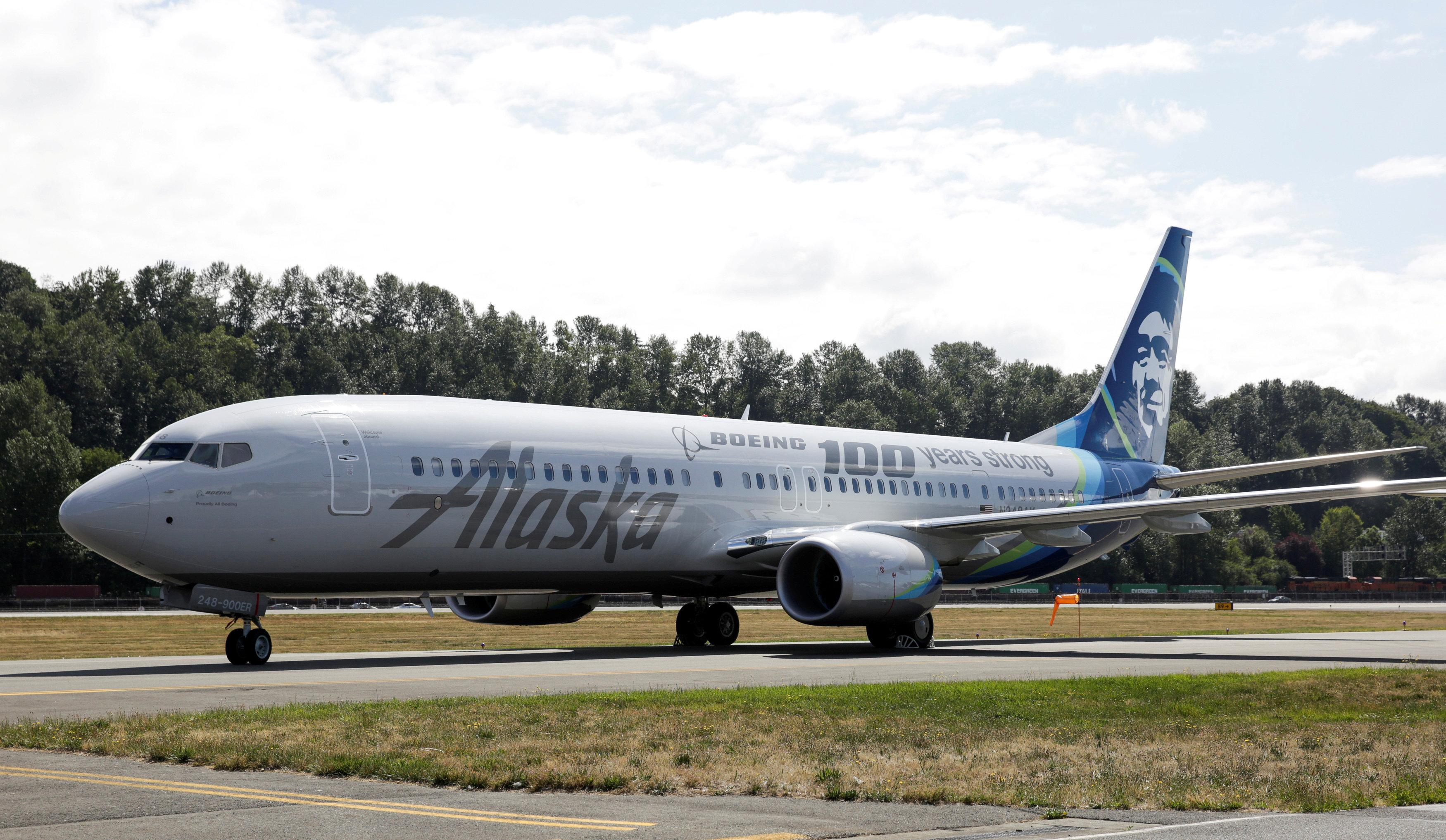 阿拉斯加航空公司(Alaska Airlines),示意圖。(路透)