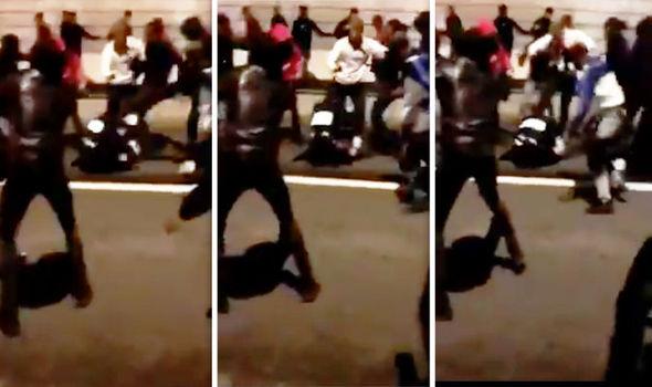法國跨年夜發生女警遭圍毆事件,更引起社會強烈譴責,甚至讓總統馬克宏震怒。(圖取自推特)