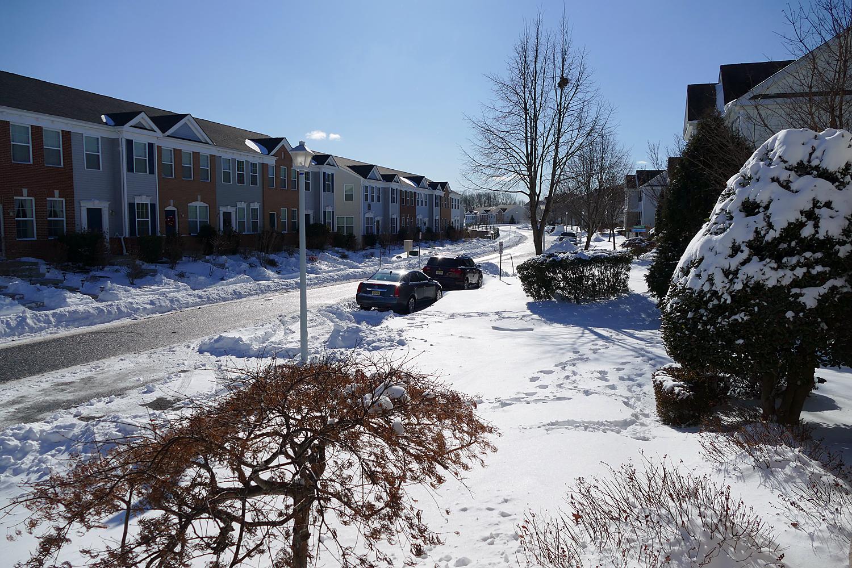 今天早上的雪景。(網友Henry Lin 2018/01/05 @新澤西州 Sayreville )
