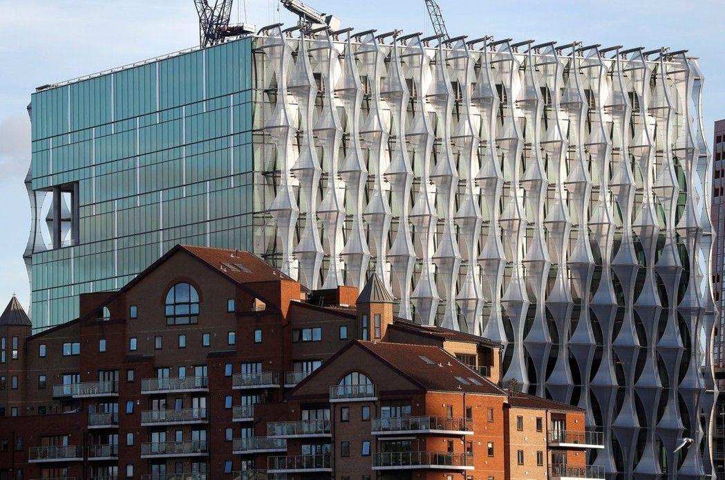 美國駐英國大使館新館,造價高達12億美元。 (路透)