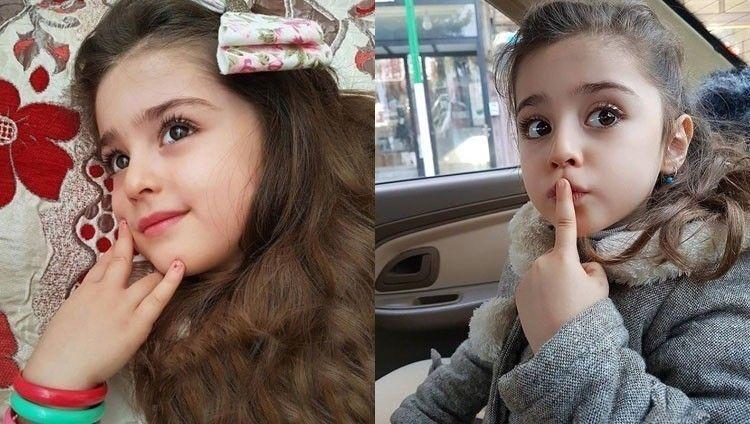 伊朗的8歲女童馬蒂(Mahdis Mohammadi)被封為「全球最美的女孩」。(翻攝自IG)
