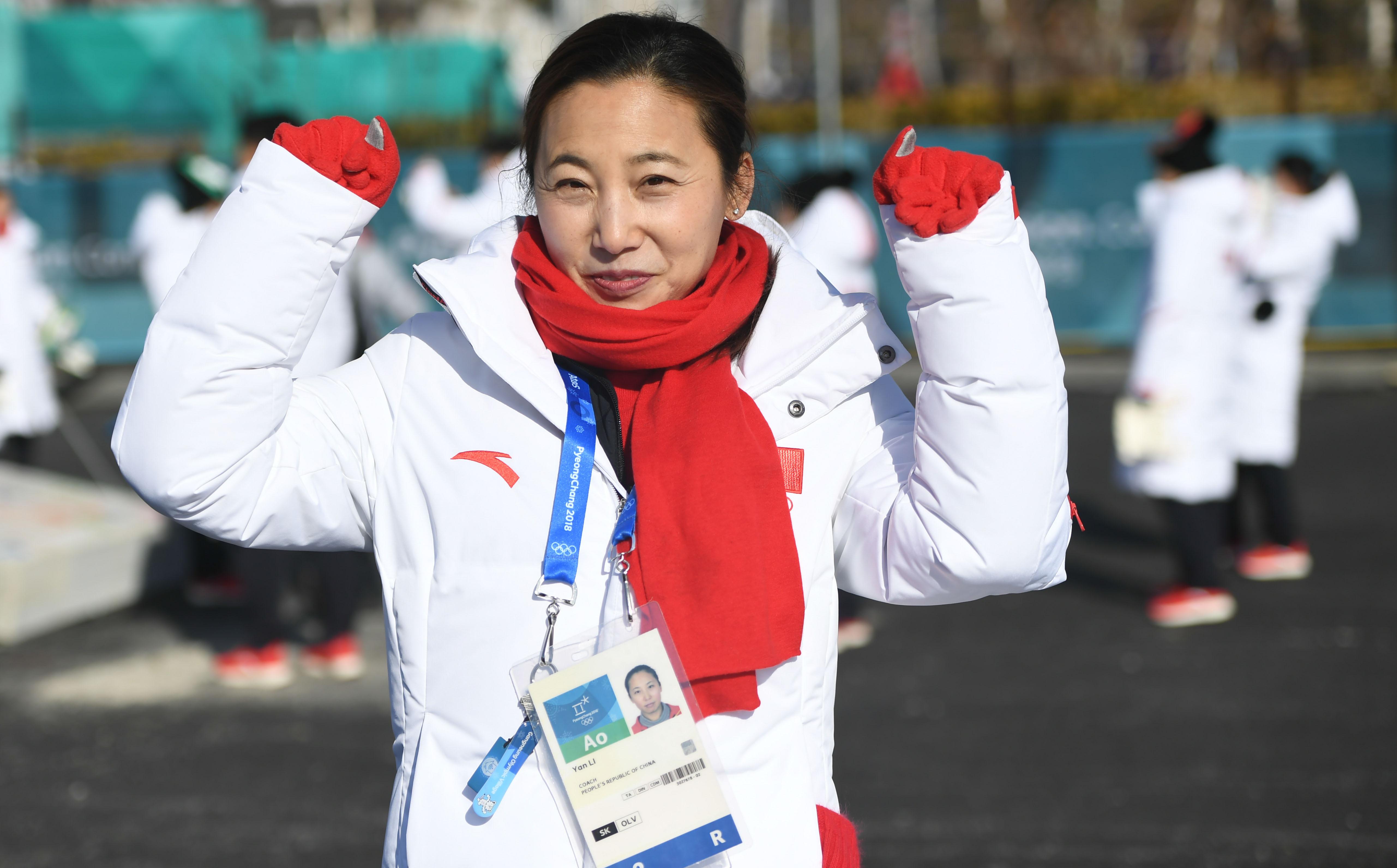 圖為中國短道速滑隊總教練李琰。新華社