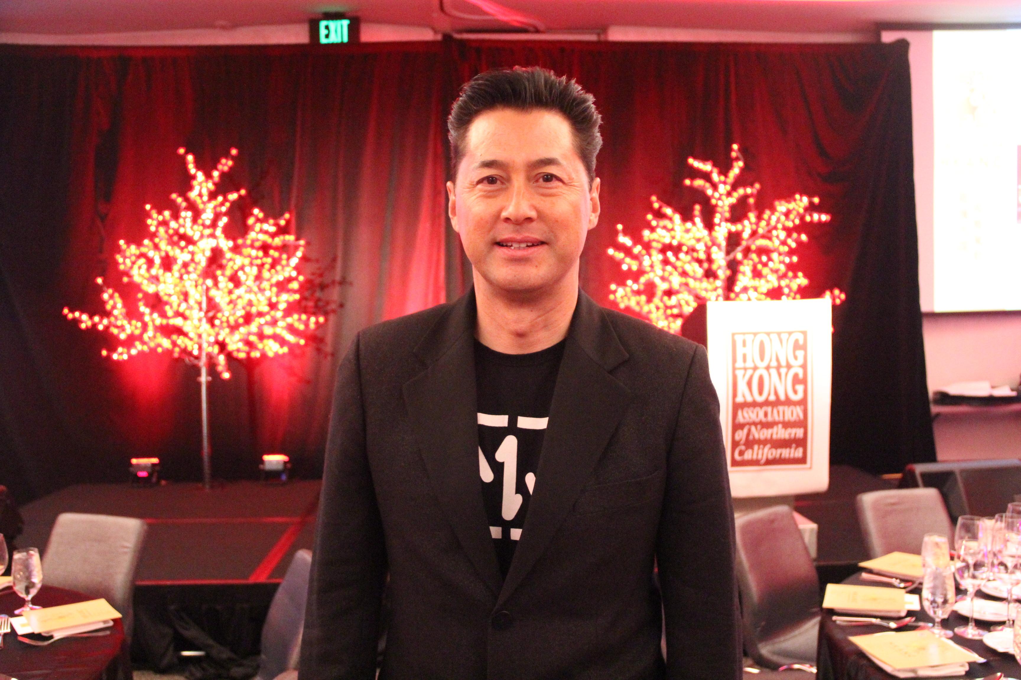 香港影星王敏德出席晚宴。(記者李晗╱攝影)