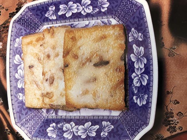 新年菜品「臘味蘿卟糕」。(林慧懿提供)