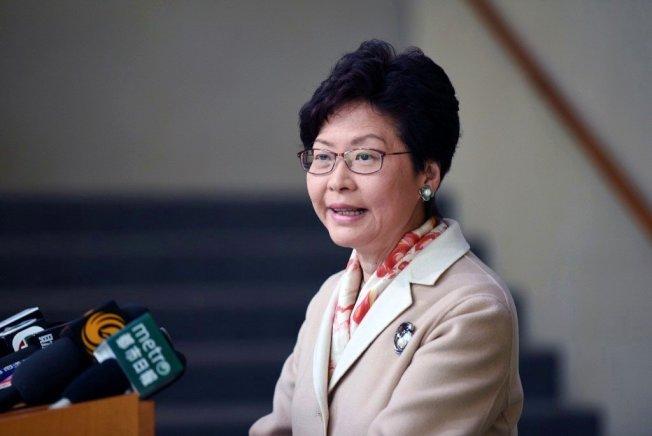 香港行政首長林鄭月娥。中通社