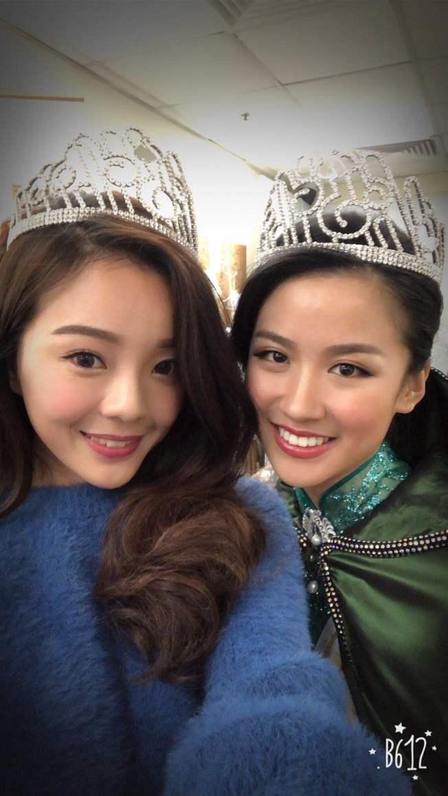 「2018國際中華小姐競選」李思佳(右)奪得中華小姐冠軍。(阮建華提供)