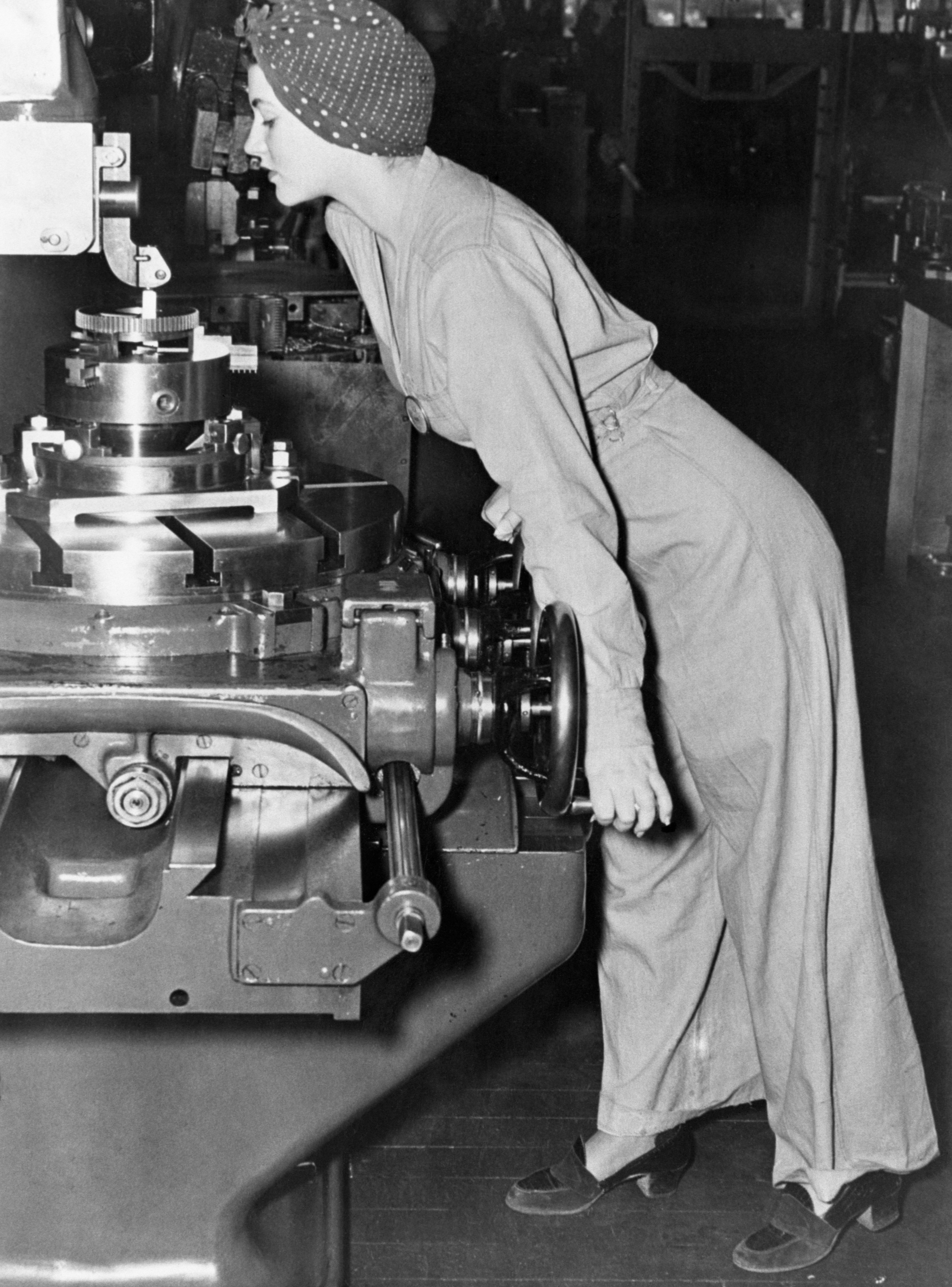 佛雷在1942年的照片,據傳是海報「我們做得到」的參考原型。(Getty Images)