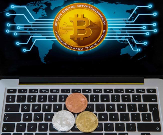 虛擬的比特幣存在於網路間。(Getty Images)