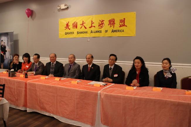 美國大上海聯盟於11日舉辦新春團拜活動。(記者張毓思/攝影)